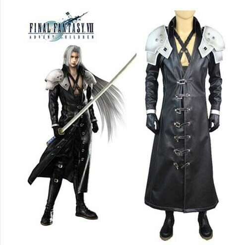Final Fantasy ff VII 7 Sephiroth Cosplay Costume Halloween Party Show Event Coat