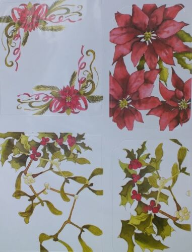 Mistletoe /& Holly Craft UK Christmas Die Cut Toppers # 2152 Poinsettia