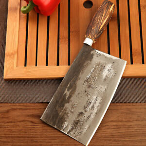 Handmade-traditional-chinese-Forged-Chef-Kitchen-Knife-Meat-Cleaver