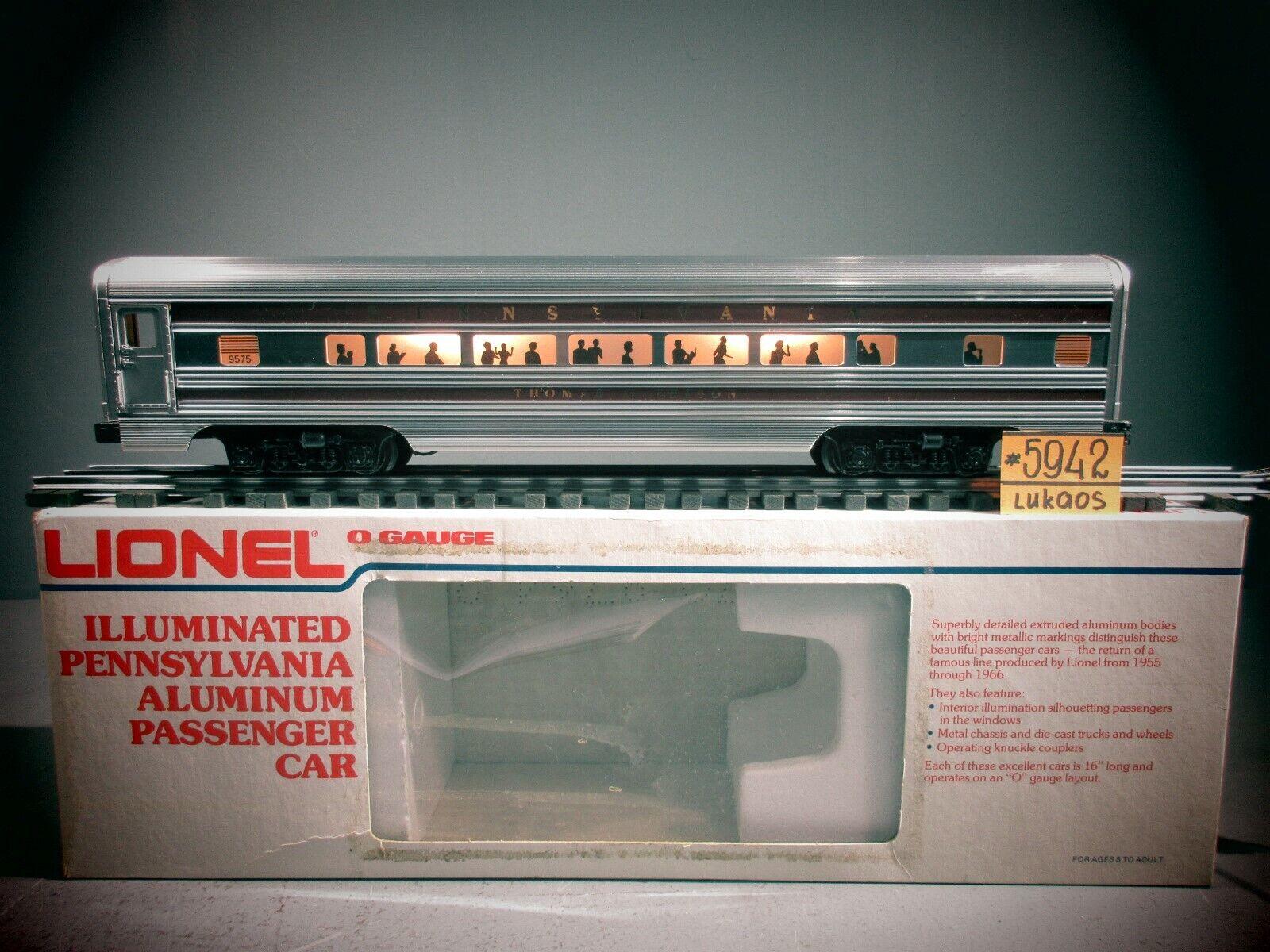 Lionel 9575 Pennsylvania ILLUMIN. in tuttiUMINIO autovettura Thomas A. Edison C8