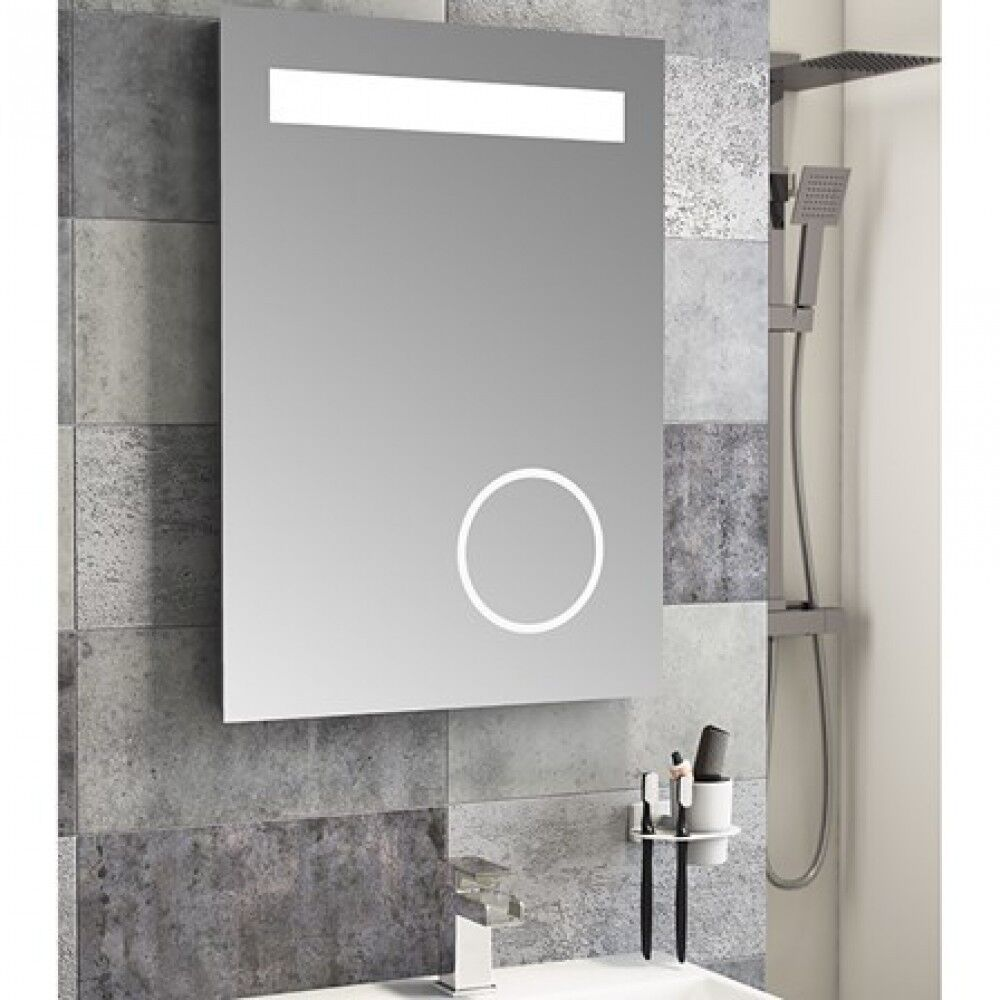 Cassellie LED Bathroom Mirror 500mm Wide x 700 High Magnifying ...