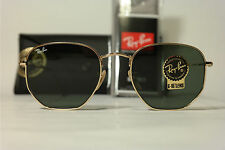 Ray Ban RB 3548-N 001 54[]21 Gold oval Sonnenbrille sunglasses NEU