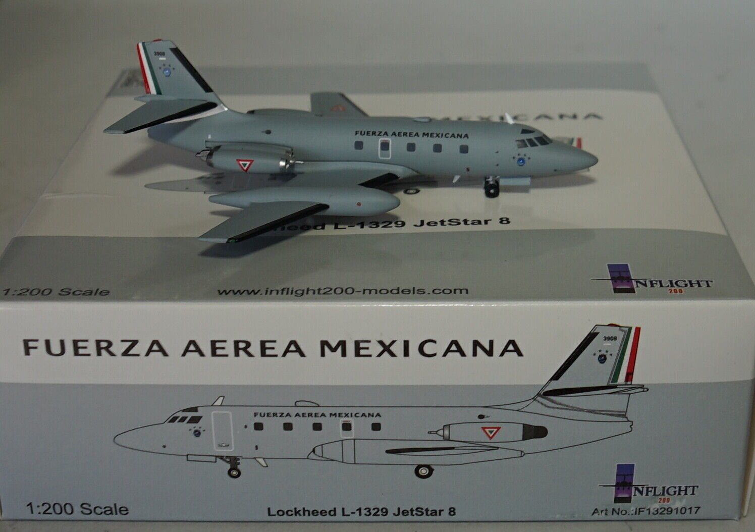 IF13291017 Lockheed L-1329 Jetstar 8 3908 Mexikanisches Air Force mit A Stand 1