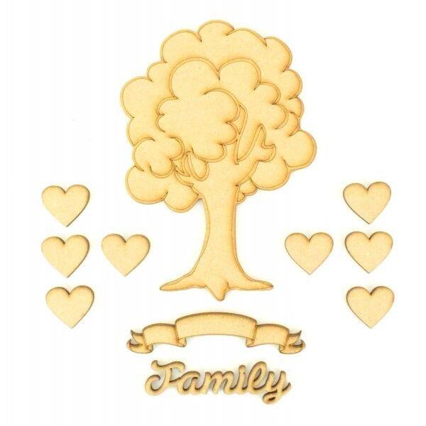 MDF en Bois Arbre Familial Kit Kit Familial Craft Formes IKEA ribba Box Cadre Design, Famille Cadeau cb3dc9