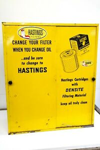 Hastings Oil Filters Gas Station Vintage Cabinet Display