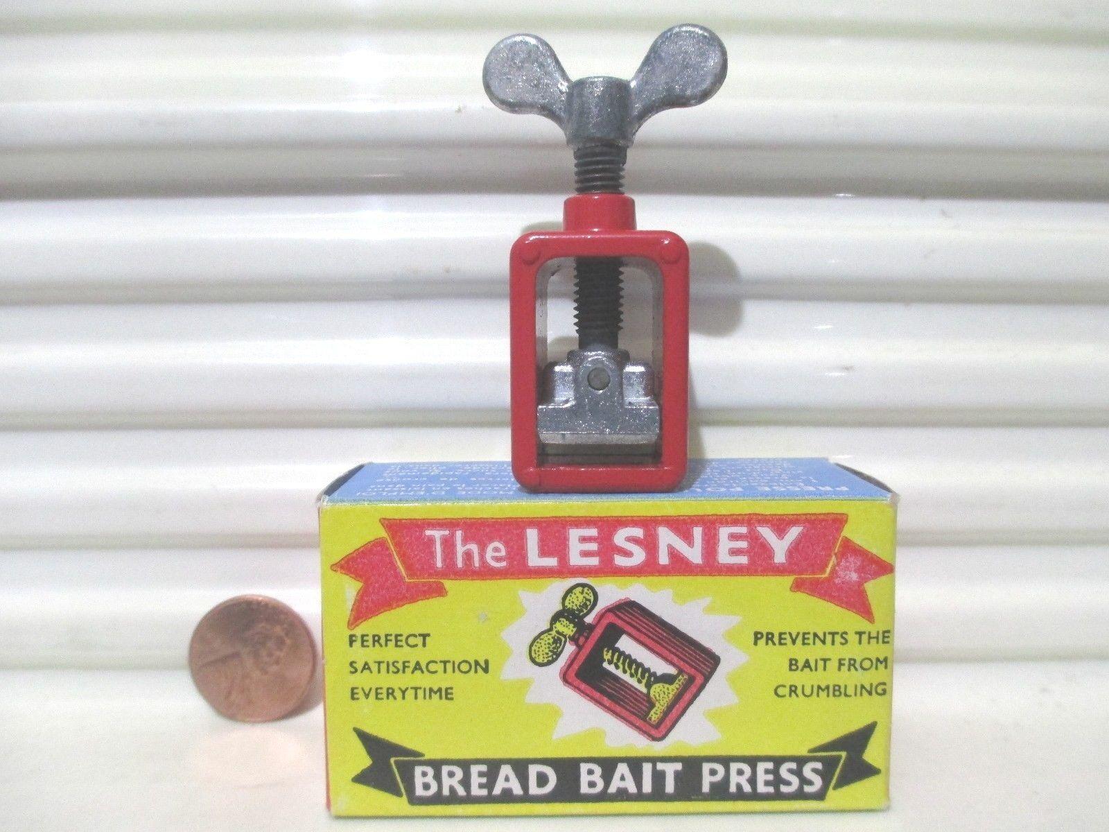 Tidig Lesney 1954 Bread Bait Press OBesteämd Wing Nut w OBesteämd Press NuMintBxd