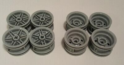 x 20mm Car Vehicle Wheel Hubs LEGO Lot of 4 Light Bluish Gray 30.4mm D