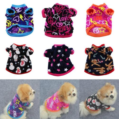 Small Pet Dog Cat Puppy Winter Warm Fleece Thick Sweater Coat Apparel Jumpsuit