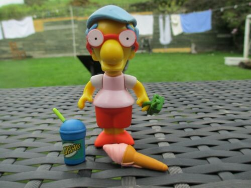 MILHOUSE VAN HOUTEN Playmates WOS The Simpsons COMPLETE Action Figure Toy