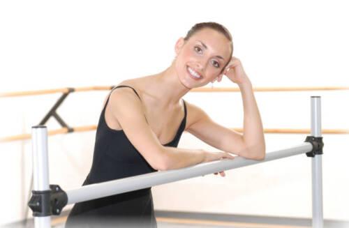 Stretch//Dance Bar Vita Vibe NEW Ballet Barre BD72 Portable 6ft DOUBLE Bar