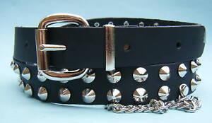 La imagen se está cargando Tachuela-Con-Tachuelas-Cinturon -de-cuero-con-cadenas 18337e62df14