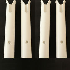 "4PCS White Plastic One Tub Fishing Rod Holders 12"" For Boat Marine Practical"