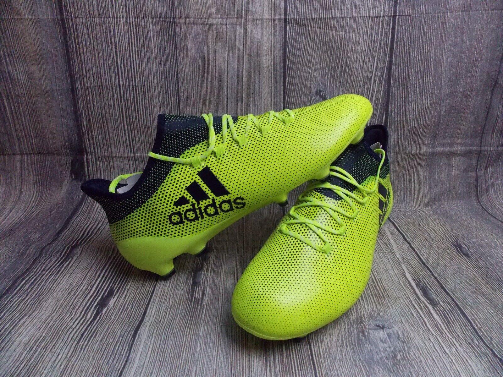 Adidas X 17.1 FG botas De Fútbol Nuevo + 12uk Solar Amarillo Pro Rugby