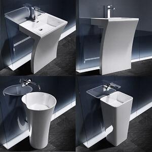 Détails sur Sogood vasque lavabo sur pied blanc colonne salle de bain  design Colossum7/30/31