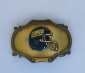 Raintree-Vintage-Men-039-s-Collectible-Giants-Football-Belt-Buckle-1978