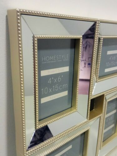 Gold 4 IN 1 Picture Photo Frames 10X15CM 4X6 Home Decor Industrial Frame Gift
