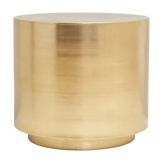 Gold Round Step Coffee Table In Brass By House Doctor
