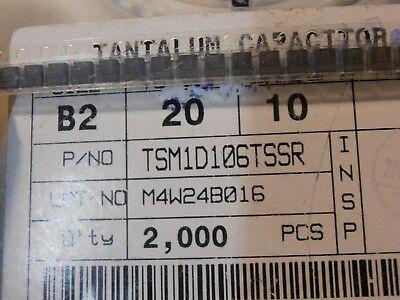 ZP191   Lot of 50 pcs T491D106M035AS  Tantalum Capacitor 10uF 35V 20/% 2917 SMD