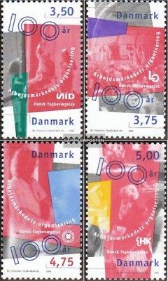 Postfrisch 1998 Arbeitnehmervereinigungen Ausgezeichnet Im Kisseneffekt Erfinderisch Dänemark 1170-1173 kompl.ausg.