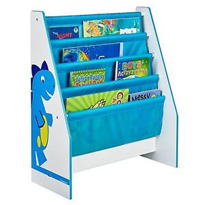 Details About Dinosaurs Sling Bookcase Childrens Bedroom Storage For Books Blue New Free P P