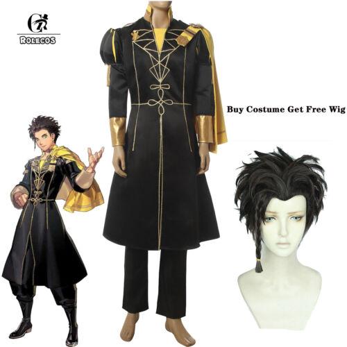 Free Wig ThreeHouses Claude Von Riegan Cosplay Kostüme Cape Suit Fire Emblem
