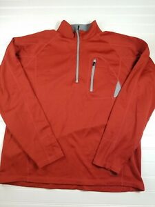 Rei-Men-039-s-Size-Large-Polyester-Long-sleeve-Jacket-orange-pullover-outdoors-D10