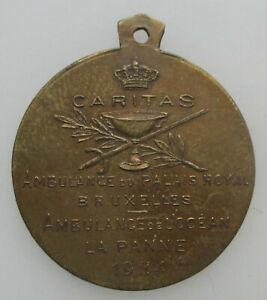 Belgie-Medaille-De-Panne-Ambulance-du-Palais-Royal-Elizabeth-1914-22-5mm