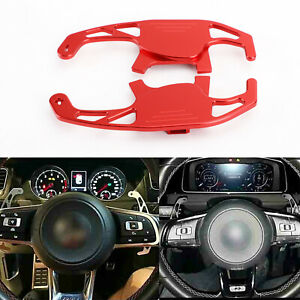 Volant Shift pagaie shifter Pour VW Golf MK7 TSI GTI R Scirocco Red A