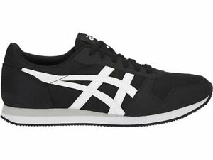 asics tiger curreo ii black white men women casual shoes