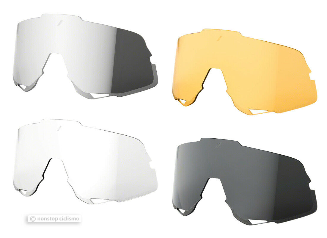 100% GLENDALE Cycling UV Sunglasses - Replacement Lenses   ALL COLORS