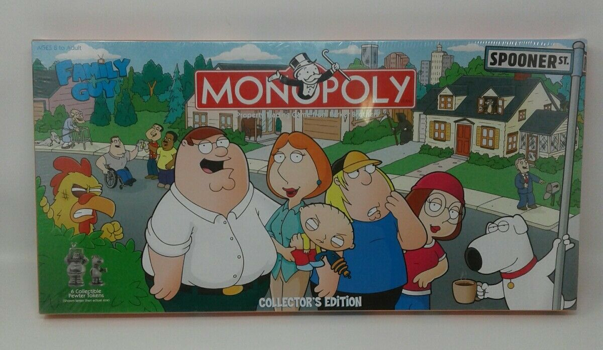 MONOPOLY Family Guy Collector's Collector's Collector's Edition Board Game 2006 New Sealed Made In USA 00f1d2