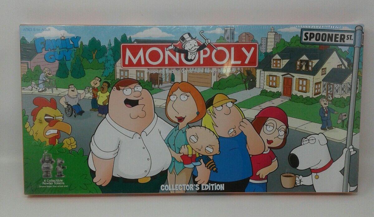 Monopoly Family Guy Collector's Edition Gioco da Tavolo 2006 Nuovo Imballato in