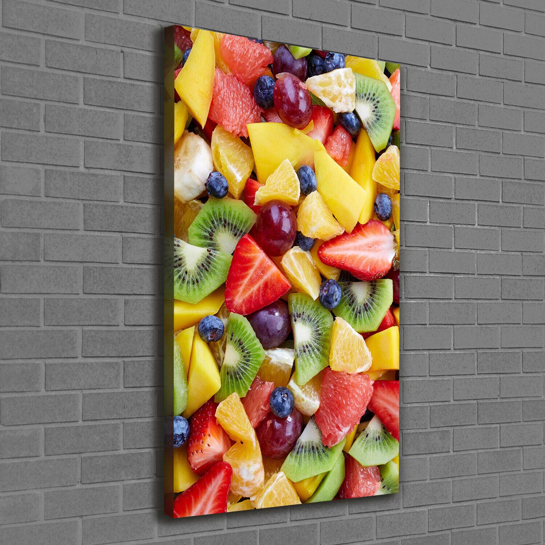 Leinwand-Bild Kunstdruck Hochformat 60x120 Bilder Gehackte Früchte