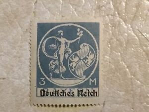 RARE-1920-Germany-3-Mark-Bavarian-stamp-with-overprint-type-UNC-Lot