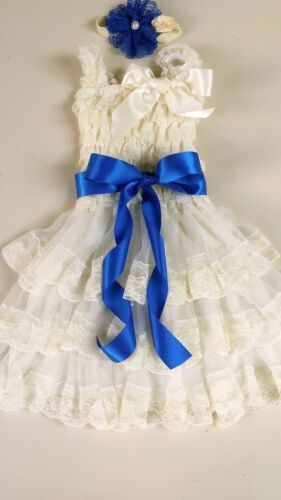 Flower Girl Dress girl Lace dress Baby Lace Dress-Rustic-Country Ivory 30JAN03