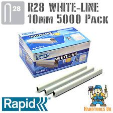 Cable De Grapas-Rapid R28 whiteline 10mm (Blanco Revestido) A Granel 5000 Pack