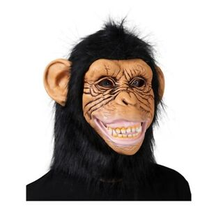 Adult-Animal-Chimp-Monkey-Ape-Mask-Fancy-Dress-Costume-Party-Accessory-New