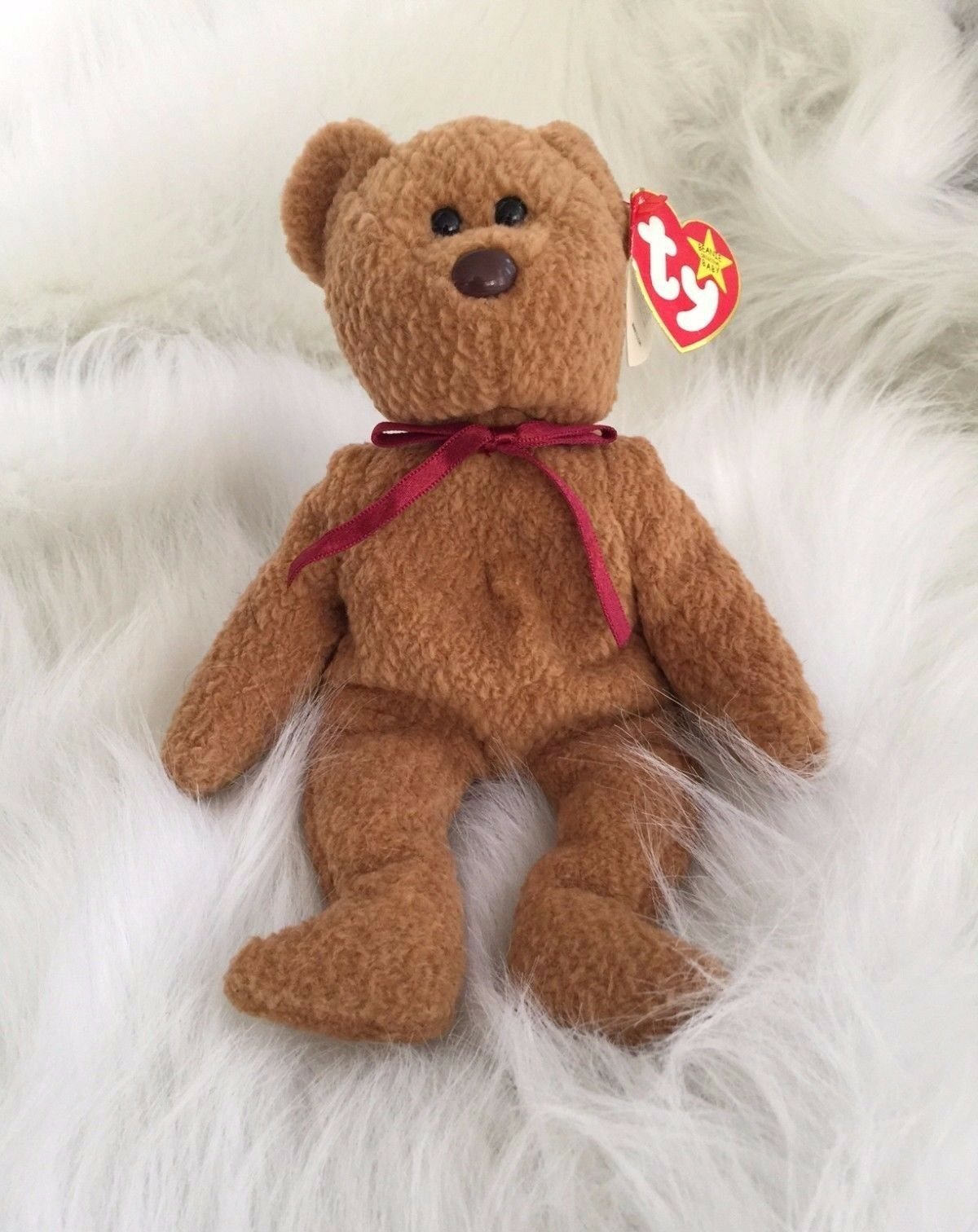 Curly RARE ERROR Ty Beanie Baby NWT Authentic hang tag and tush tag errors