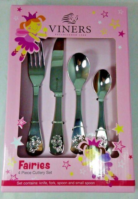 Viners Fairies Stainless Steel 4 Piece Children Child Kids Cutlery Set