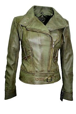 Superstar Ladies Biker Fashion Casual Style Electric Blue Napa Leather Jacket
