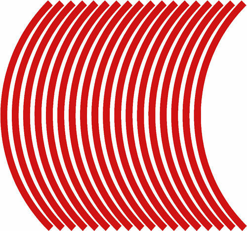 10mm wheel rim tape striping stripes stickers RED 38 pieces//9 per wheel