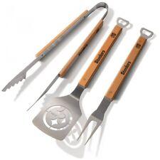 Ballylelly 11-Zoll-Grillb/ürste BBQ-Grillb/ürste Reinigungswerkzeug Edelstahldrahtborsten Dreieck-Reinigungsb/ürsten mit Griff