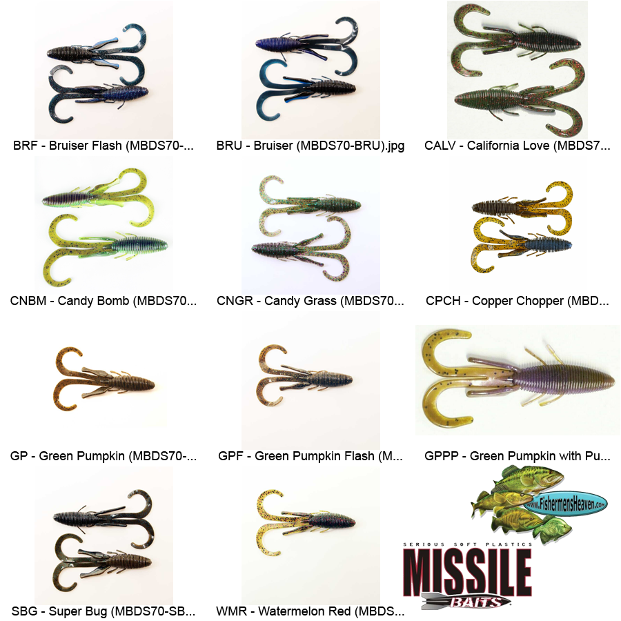 """Missile Baits MBDS70-CPCH D Stroyer 6/"""" Copper Chopper 6pk Fishing Tackle Lure"""