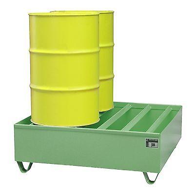 Profilwanne Auffangwanne Ölwanne Ölauffangwanne für 4x200L Fässer Stahl Grün
