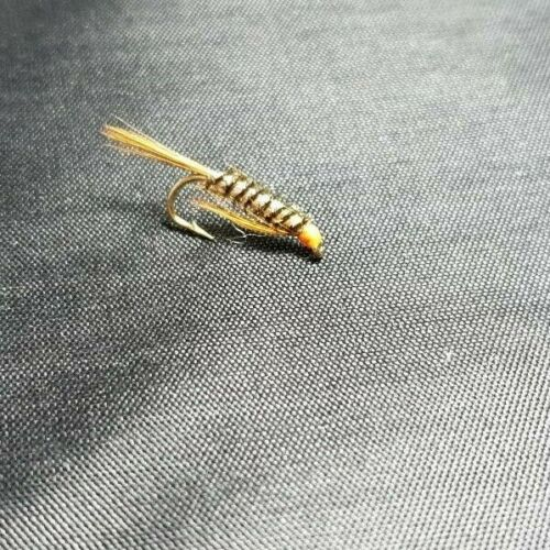 3 Orange Diawl Bachs,Holo Sz12 Trout Nymphs Trout Flies For Trout Fly Fishing