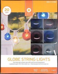 RED-WHITE-BLUE-GLOBE-STRING-LIGHTS-G40-20-CT-HOLIDAY-039-S-PARTIES-BBQ-039-S-NIB
