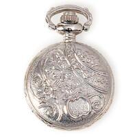 Metal Embellishments / Charms - Small 1 Silver Pocket Watch Locket - Steampunk