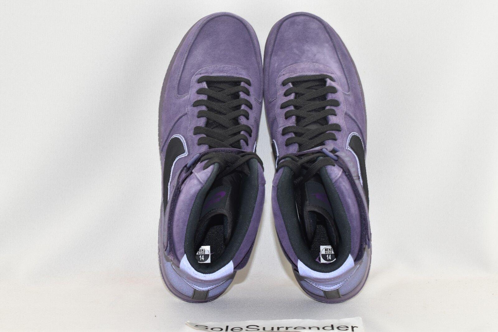 Nike Air Force Force Force 1 High '07 QS  Harlem  - SIZE 14 - 573967-500 Black Raisin HOH Hi eb1640