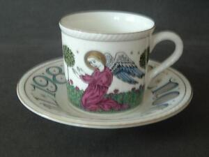 Royal-Doulton-Bone-China-England-1980-Ltd-Ed-034-The-Annunciation-034-Cup-and-Saucer