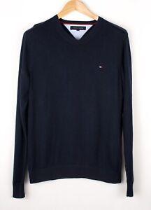 TOMMY-HILFIGER-Men-Casual-Knit-Sweater-Jumper-Size-S-ATZ698